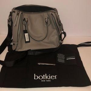 Botkier Leather Moto Top Handle Satchel Crossbody
